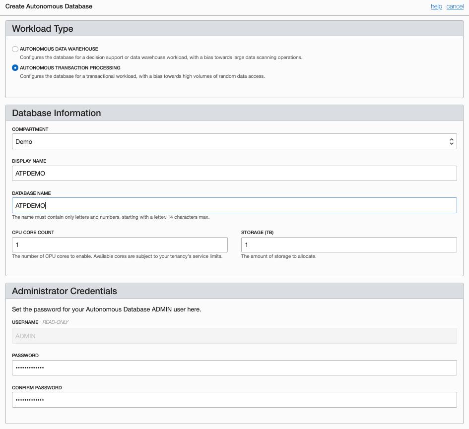 Autonmous Transaction Processing | Oracle Cloud Infrastructure