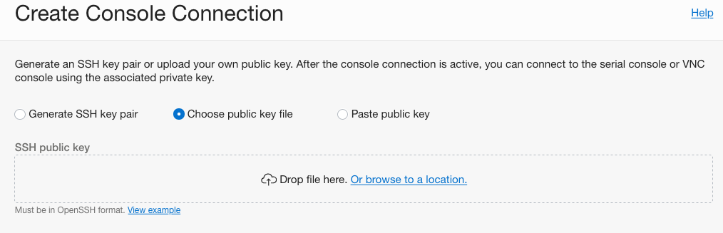 Compute Console Connection | Oracle Cloud Infrastructure